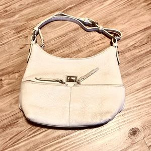 Dooney & Bourke off-white pebbled leather purse